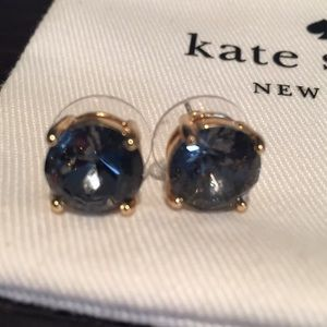 Blue/Gray round Kate Spade earrings